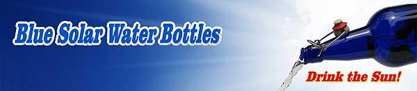 Blue Solar Water Bottles